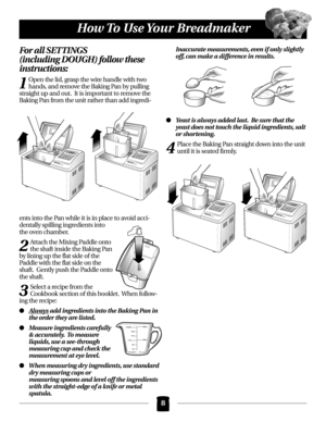 bread maker instruction manual