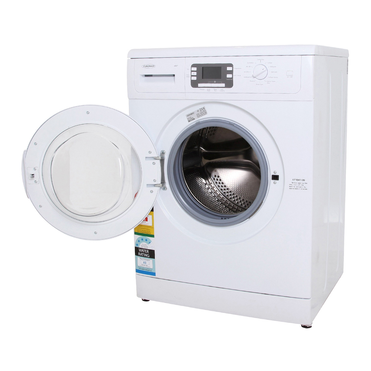 euromaid front loader washing machine instructions