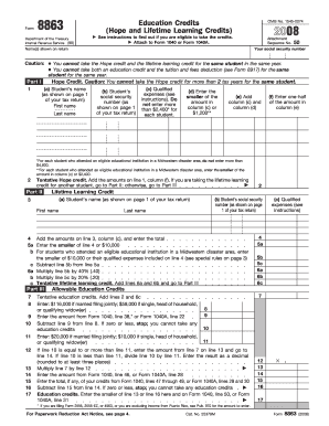 form 8863 instructions 2017