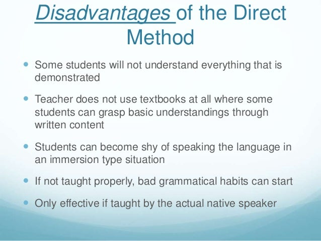 disadvantages of direct instruction