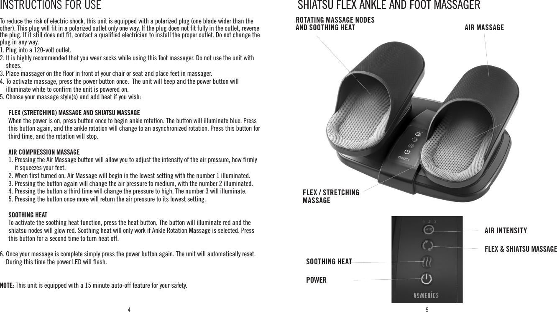 homedics foot massager instructions