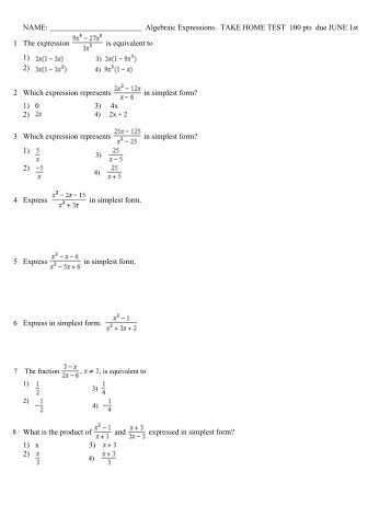 take home exam instructions
