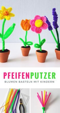 pipe cleaner flowers instructions