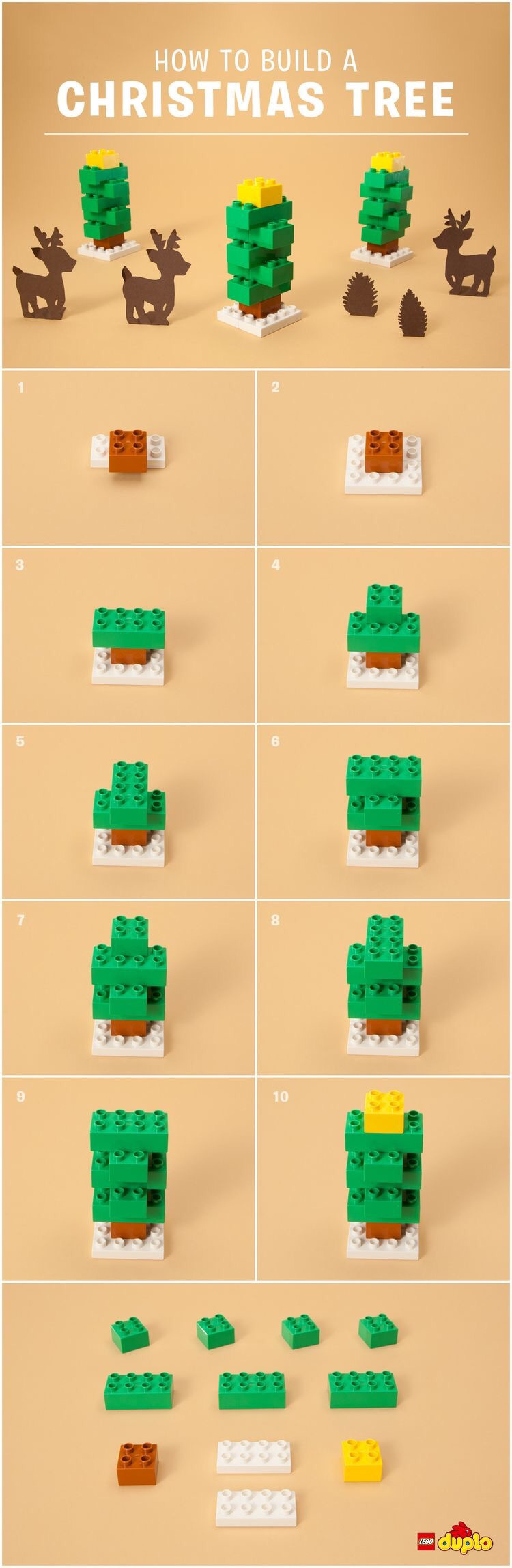 lego christmas tree instructions