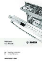 bosch dishwasher loading instructions
