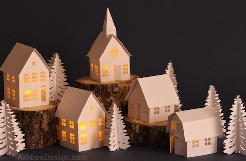 christmas tree village display instructions