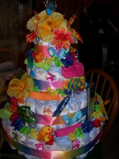 diaper cakes for baby showers instructions