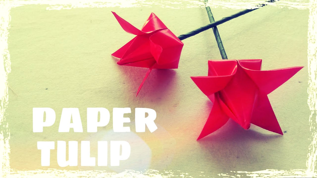 easy origami tulip printable instructions