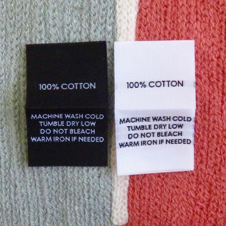 garment care instruction labels