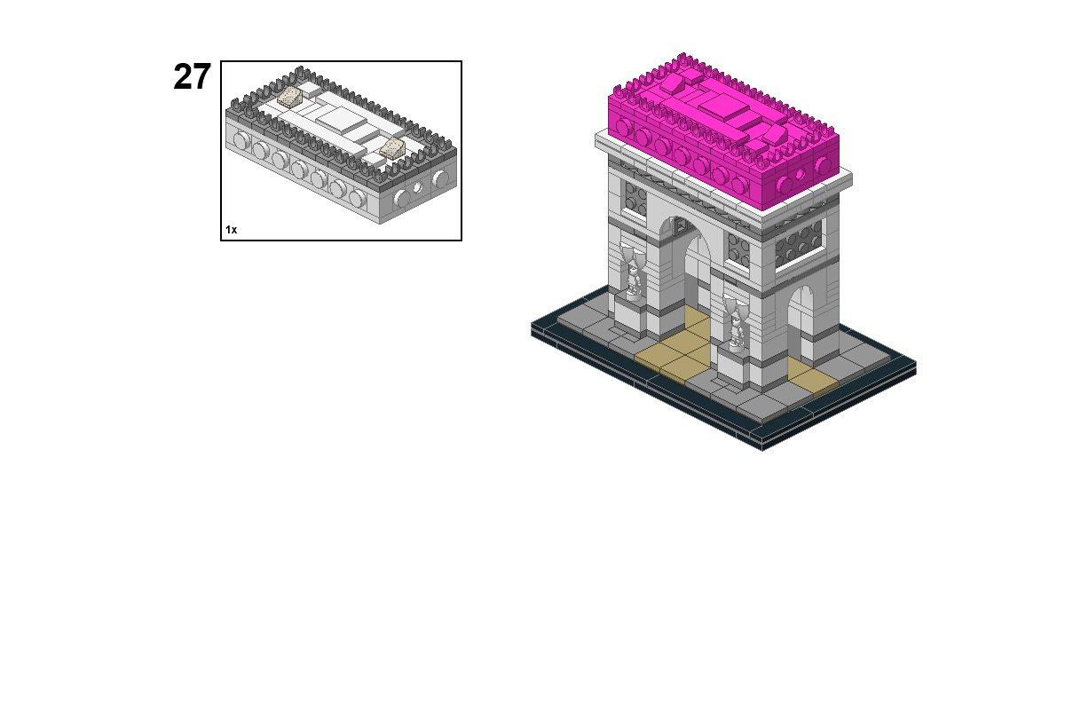 lego arc de triomphe instructions