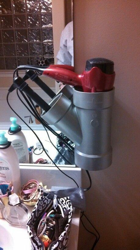 pvc pipe hair dryer holder instructions