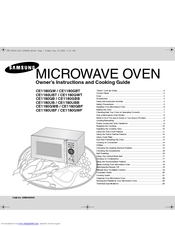 samsung microwave operating instructions
